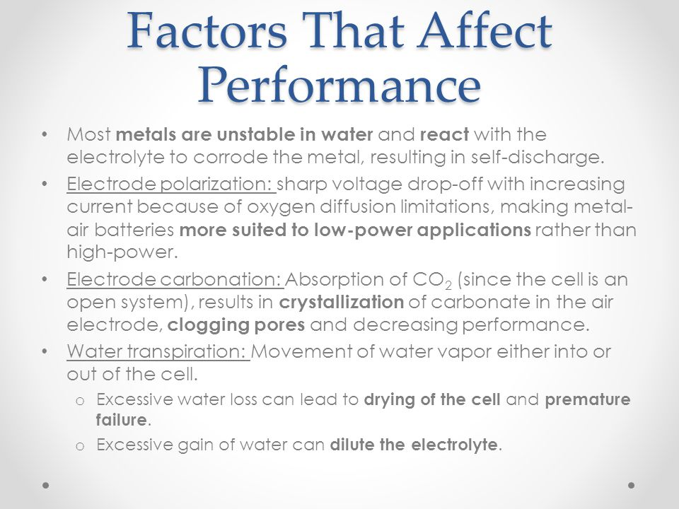 Factors That Affect Performance