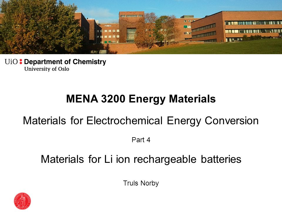 Materials for Electrochemical Energy Conversion