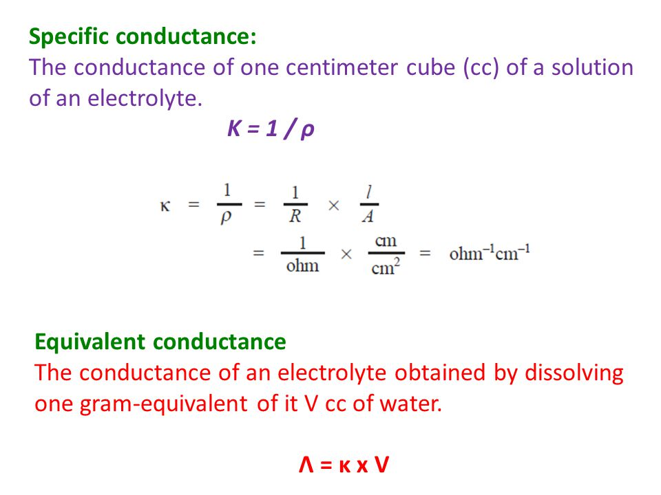 Specific conductance:
