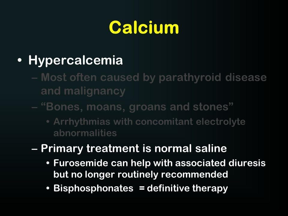 Calcium Hypercalcemia