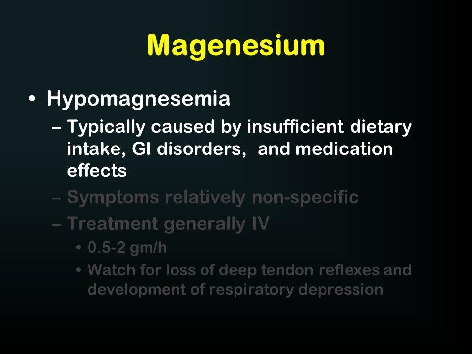 Magenesium Hypomagnesemia