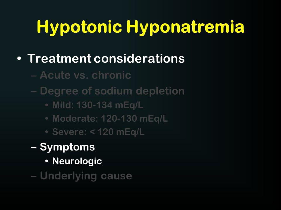 Hypotonic Hyponatremia
