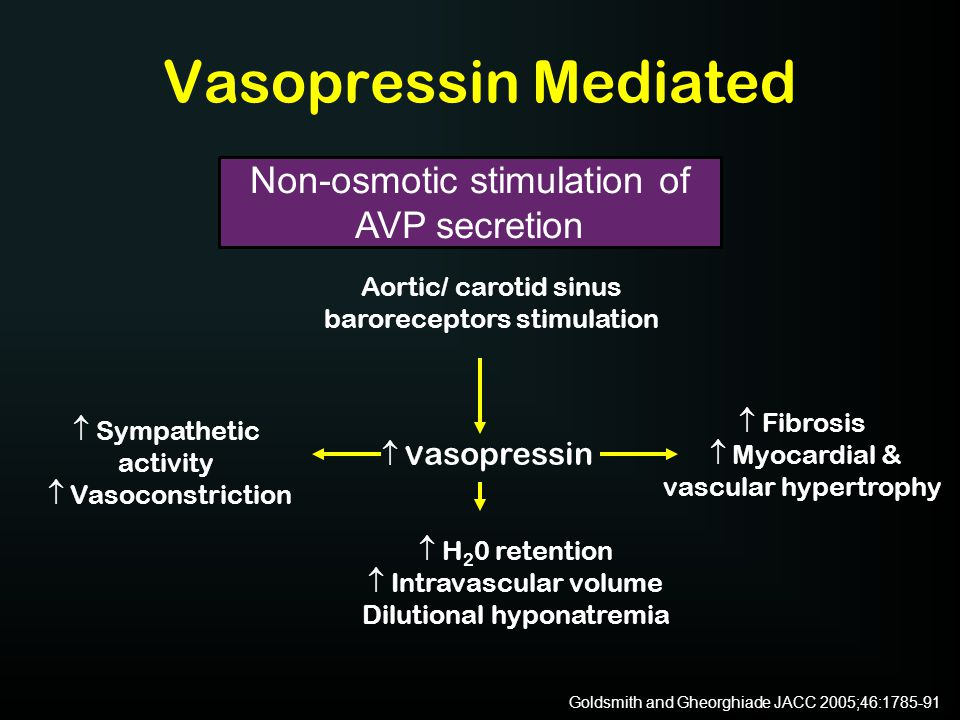 Vasopressin Mediated Non-osmotic stimulation of AVP secretion