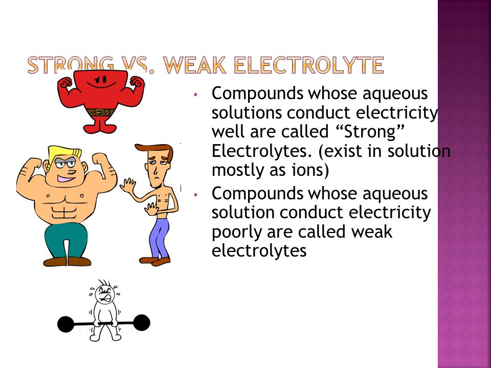 Strong Vs. Weak Electrolyte