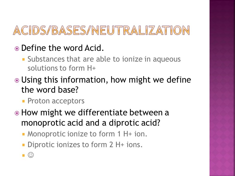 Acids/bases/neutralization