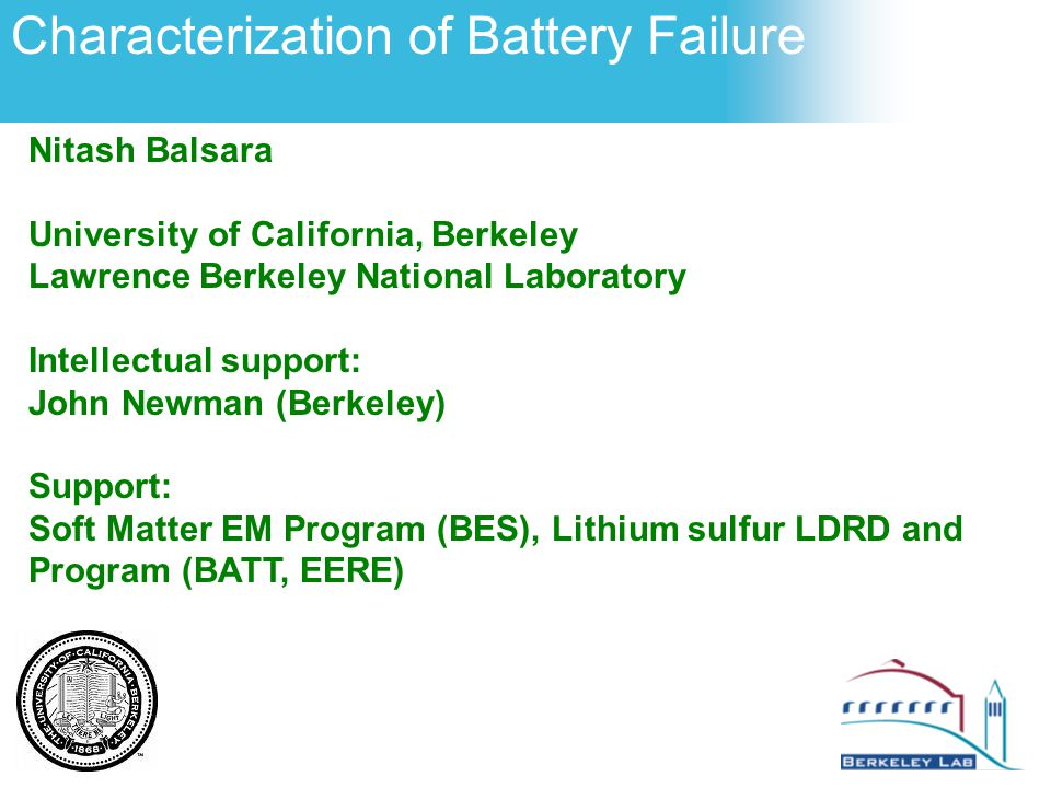 Characterization of Battery Failure