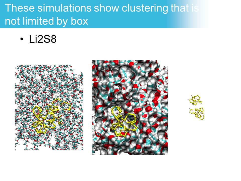 These simulations show clustering that is not limited by box
