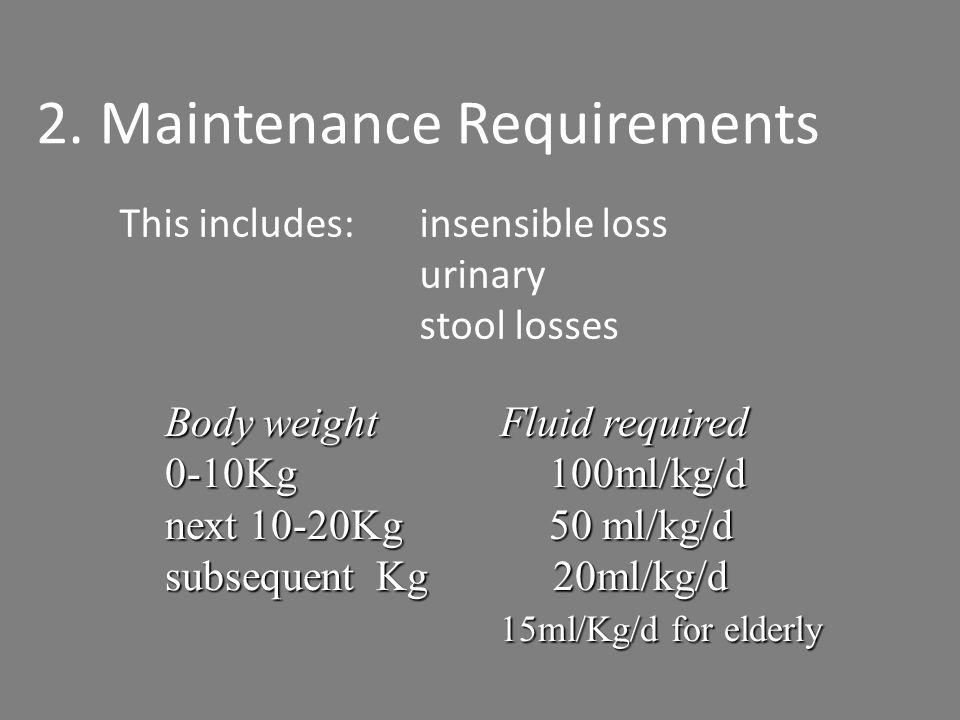 2. Maintenance Requirements