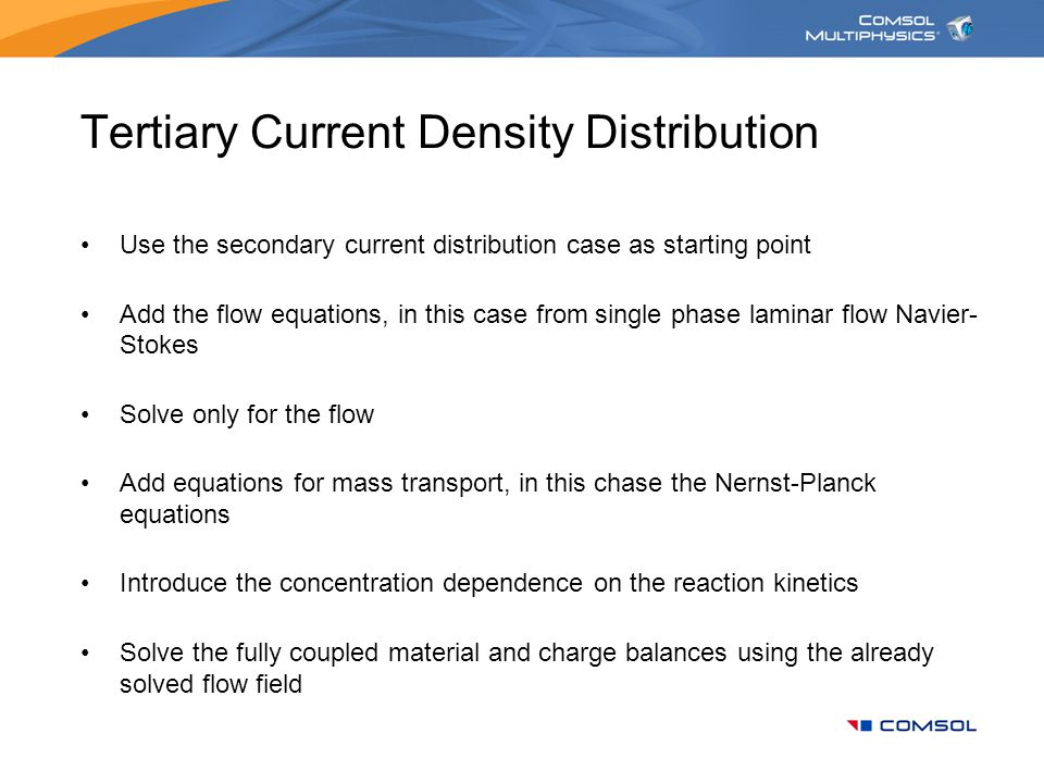 Tertiary Current Density Distribution