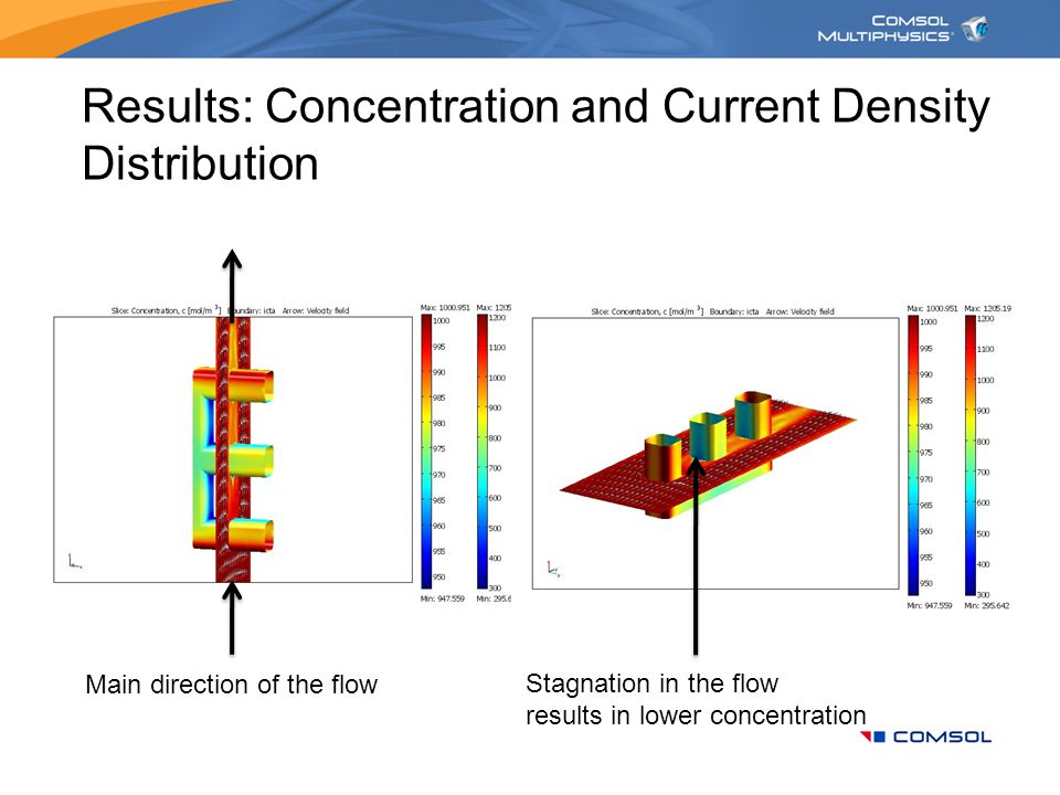 Results: Concentration and Current Density Distribution