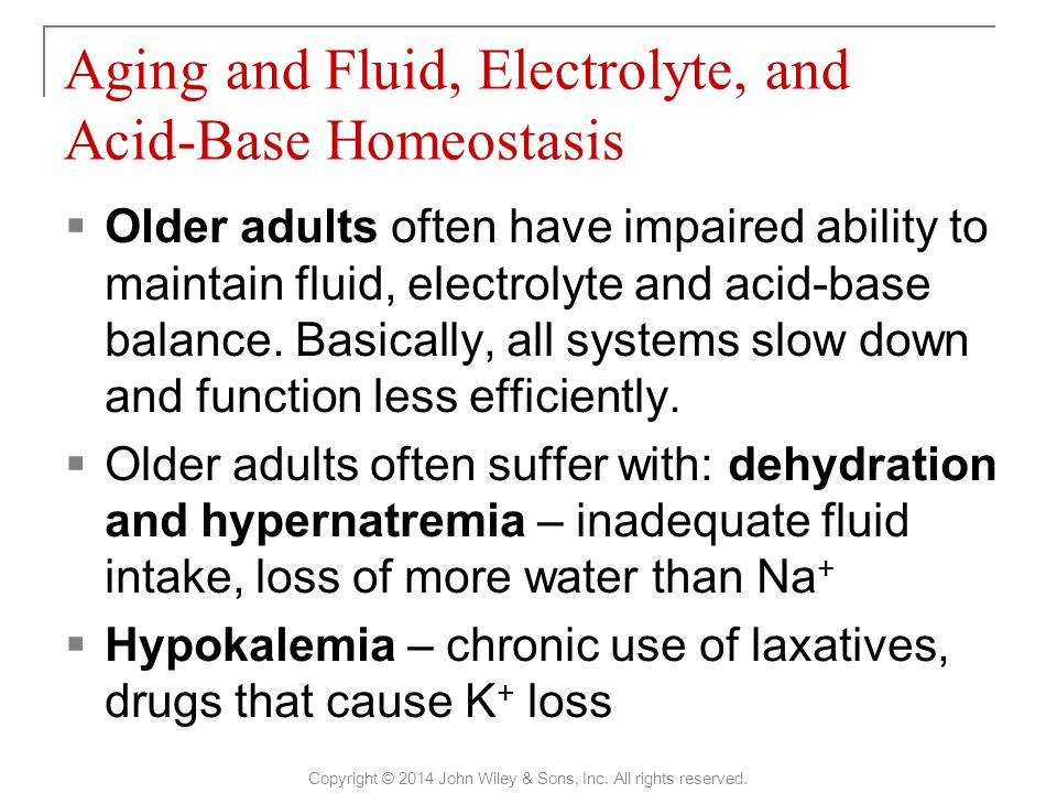 Aging and Fluid, Electrolyte, and Acid-Base Homeostasis