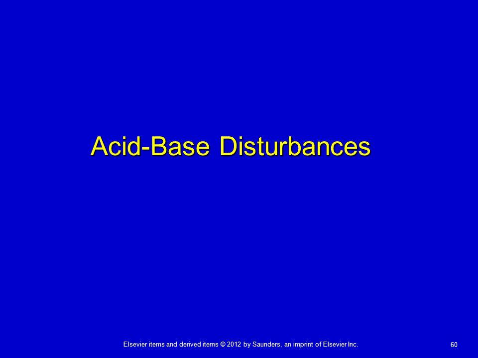 Acid-Base Disturbances