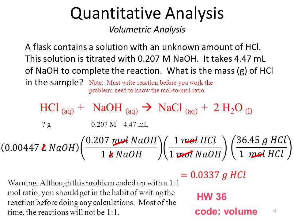 Quantitative Analysis Volumetric Analysis