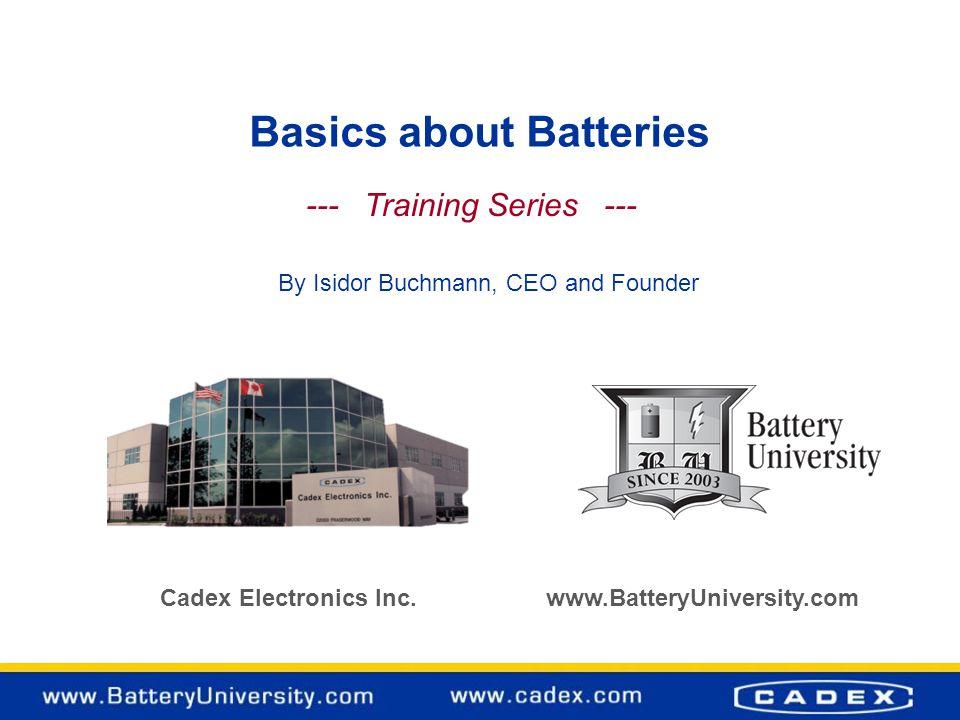 Basics about Batteries
