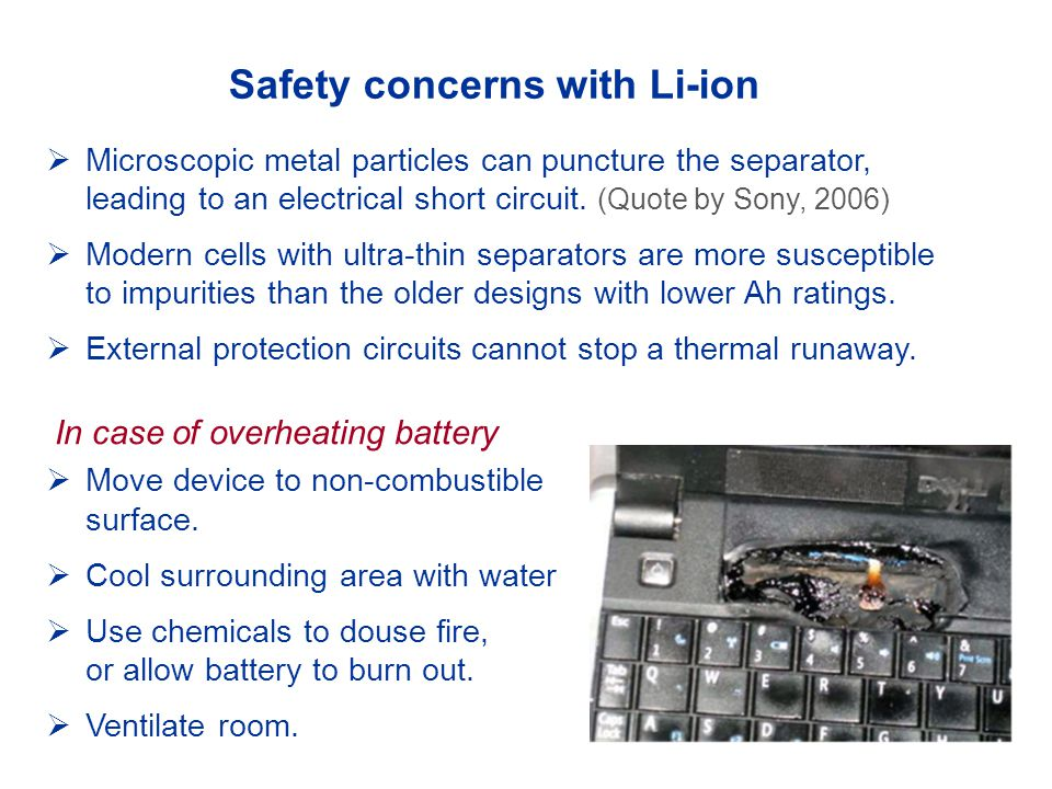 Safety concerns with Li-ion