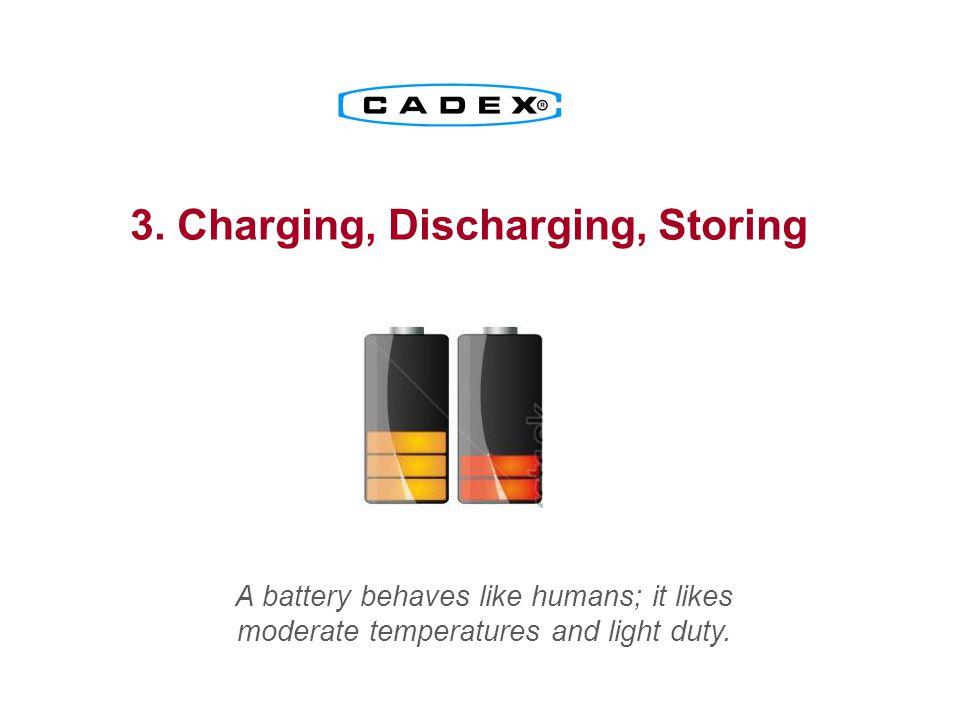 3. Charging, Discharging, Storing
