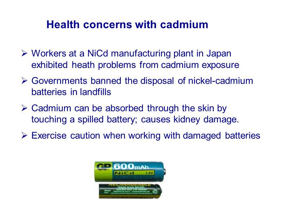 Health concerns with cadmium