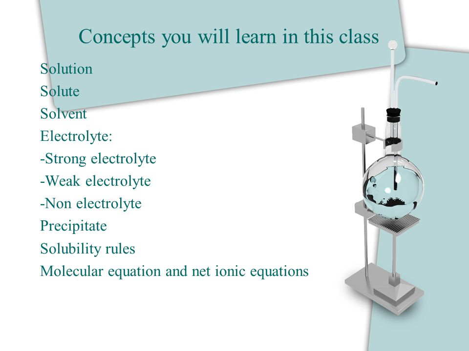 Concepts you will learn in this class