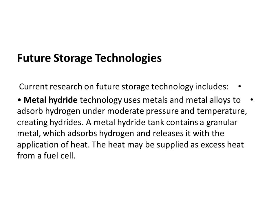 Future Storage Technologies