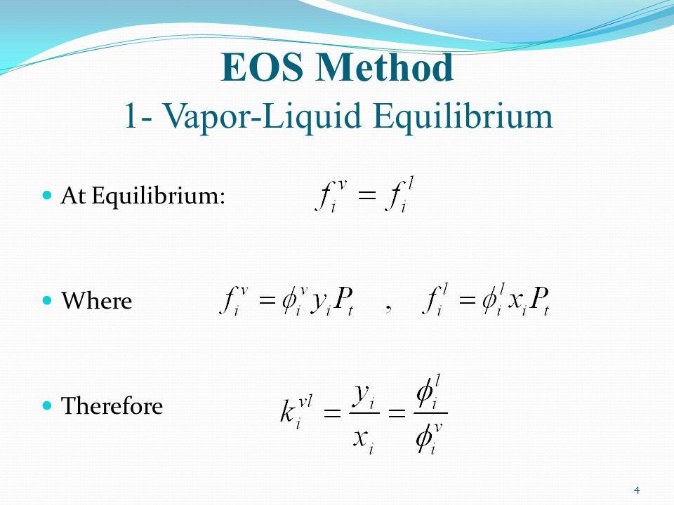 EOS Method 1- Vapor-Liquid Equilibrium