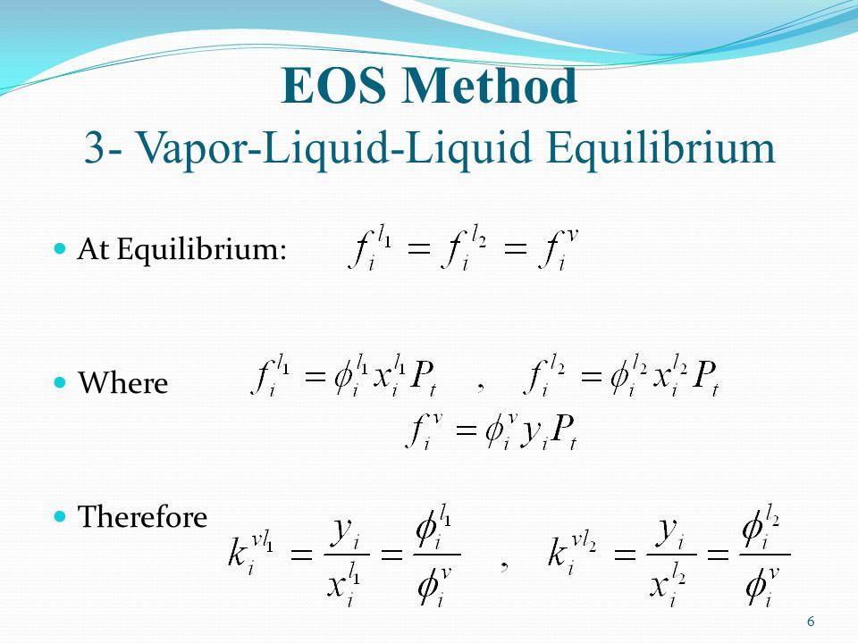 EOS Method 3- Vapor-Liquid-Liquid Equilibrium