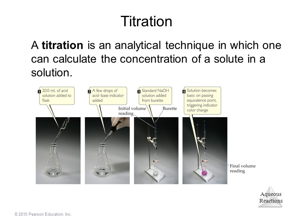 Titration A titration is an analytical technique in which one can calculate the concentration of a solute in a solution.