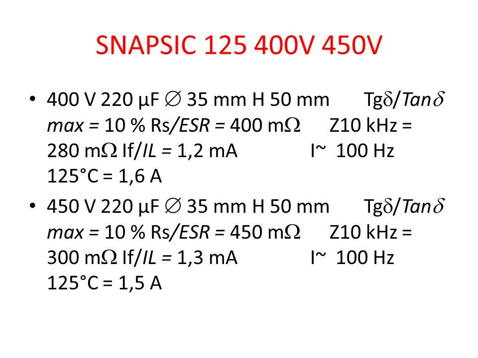 SNAPSIC 125 400V 450V
