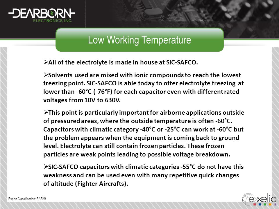 Low Working Temperature