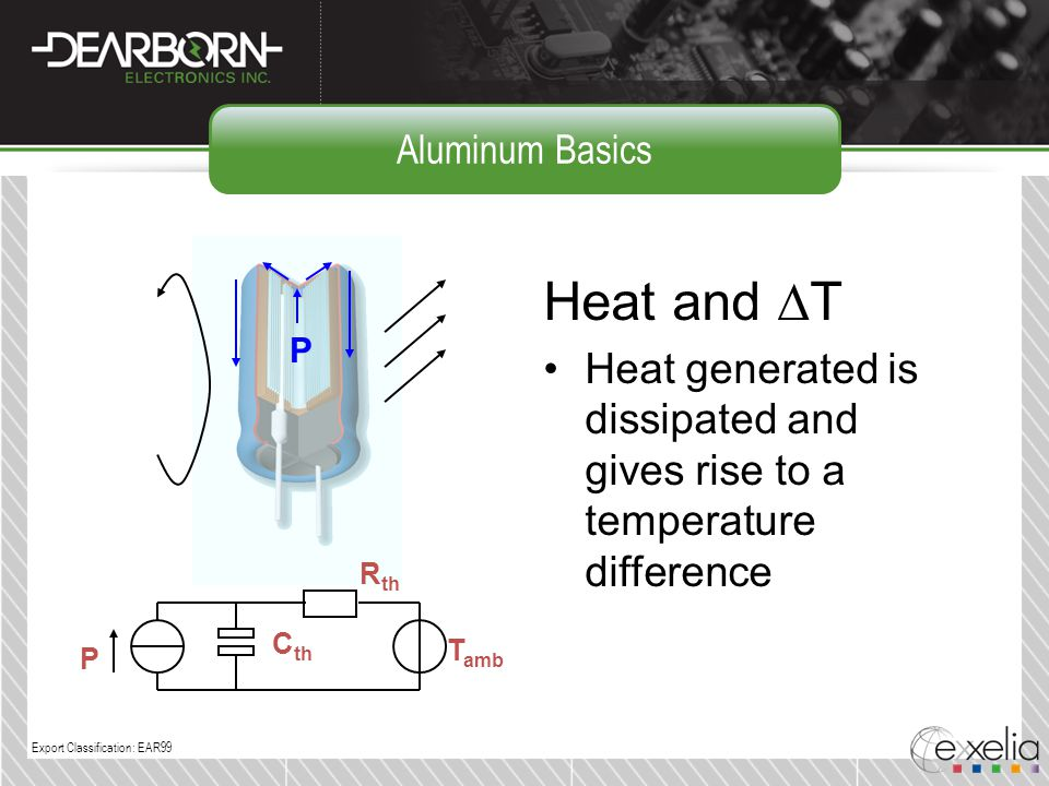 Aluminum Basics Heat and DT. Heat generated is dissipated and gives rise to a temperature difference.