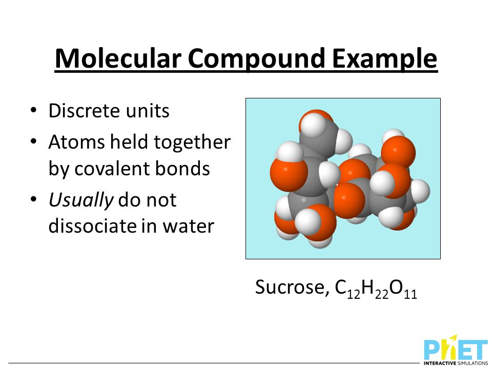Molecular Compound Example