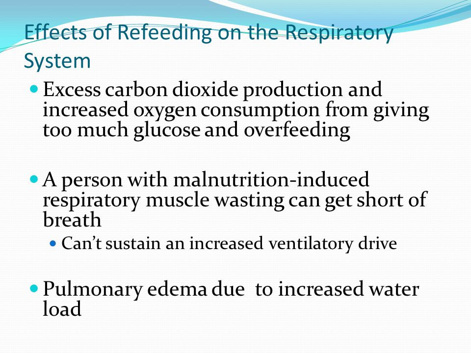 Effects of Refeeding on the Respiratory System