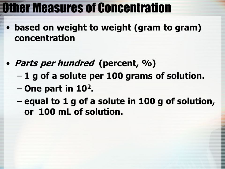 Other Measures of Concentration