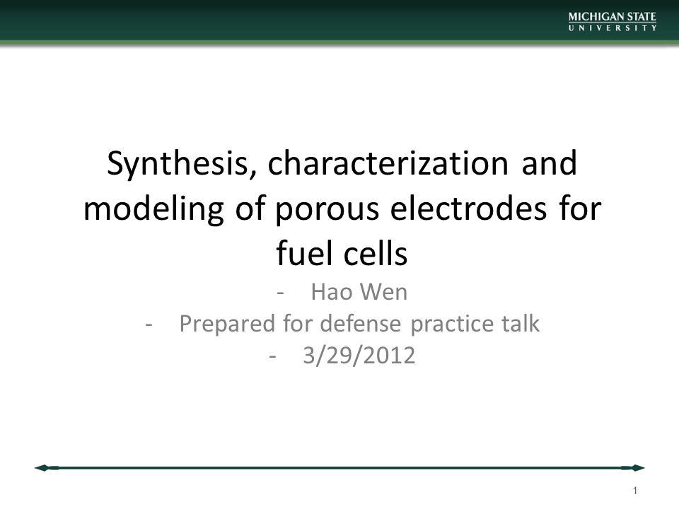Prepared for defense practice talk