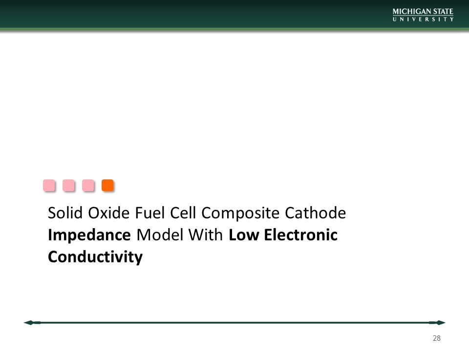 Solid Oxide Fuel Cell Composite Cathode Impedance Model With Low Electronic Conductivity