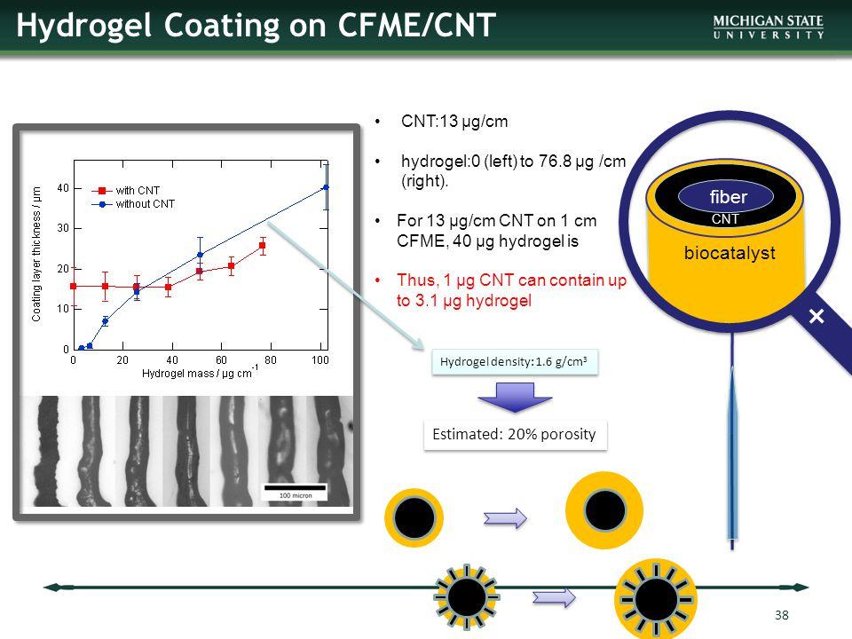 Hydrogel Coating on CFME/CNT