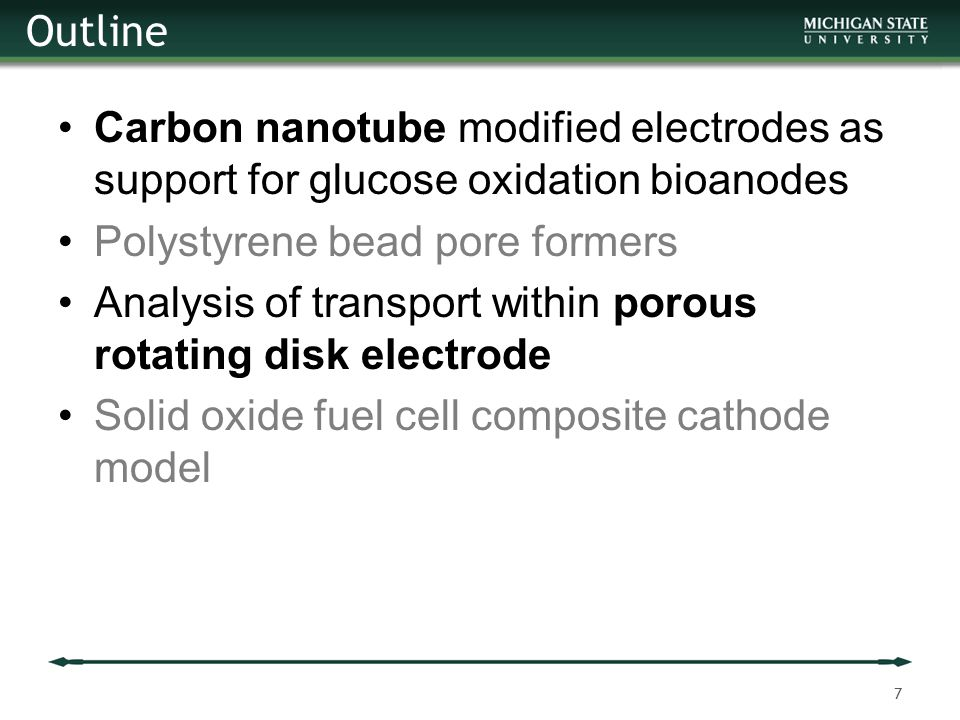 Outline Carbon nanotube modified electrodes as support for glucose oxidation bioanodes. Polystyrene bead pore formers.