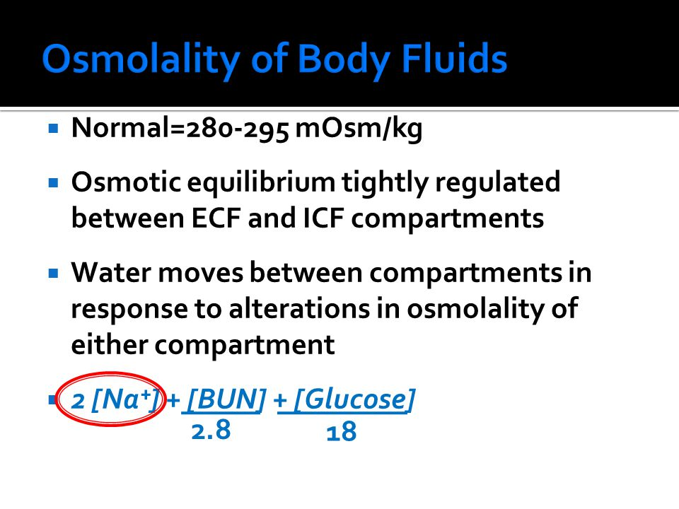 Osmolality of Body Fluids