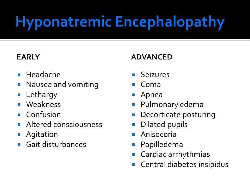 Hyponatremic Encephalopathy