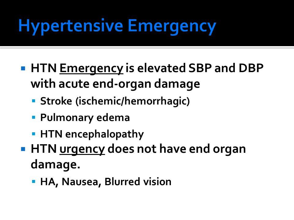 Hypertensive Emergency
