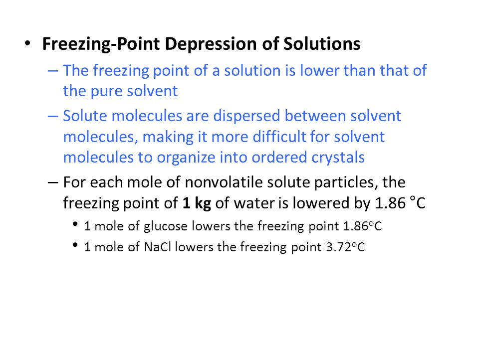 Freezing-Point Depression of Solutions