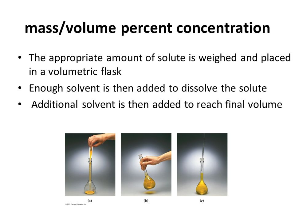 mass/volume percent concentration