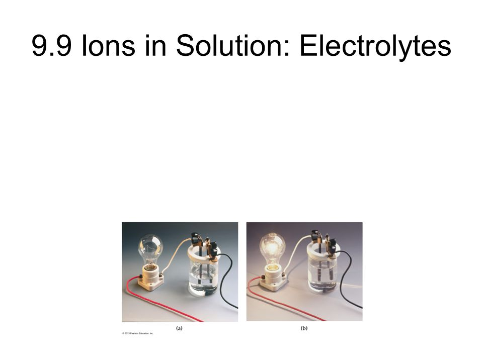 9.9 Ions in Solution: Electrolytes