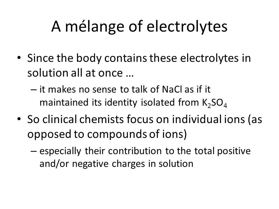 A mélange of electrolytes