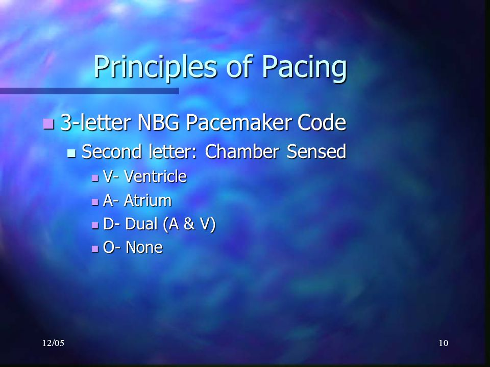 Principles of Pacing 3-letter NBG Pacemaker Code