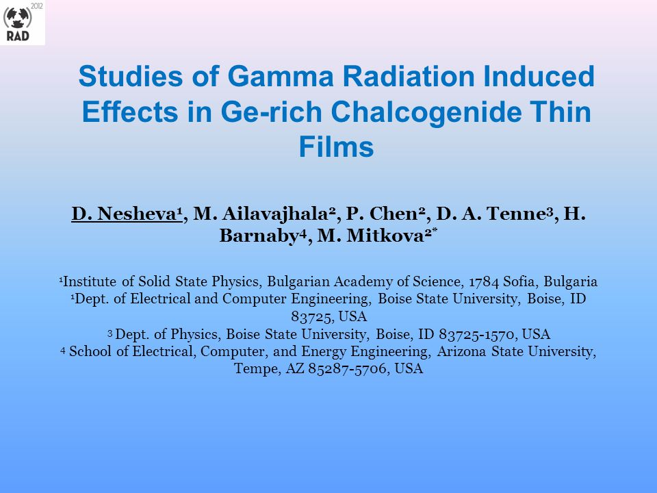 Studies of Gamma Radiation Induced Effects in Ge-rich Chalcogenide Thin Films