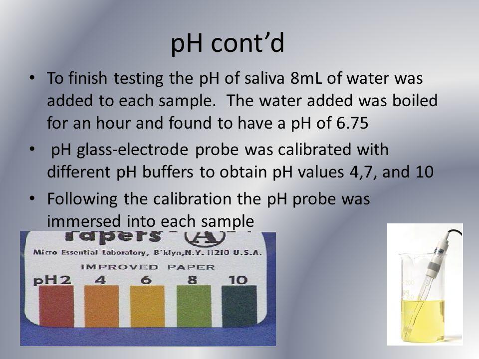 pH cont'd