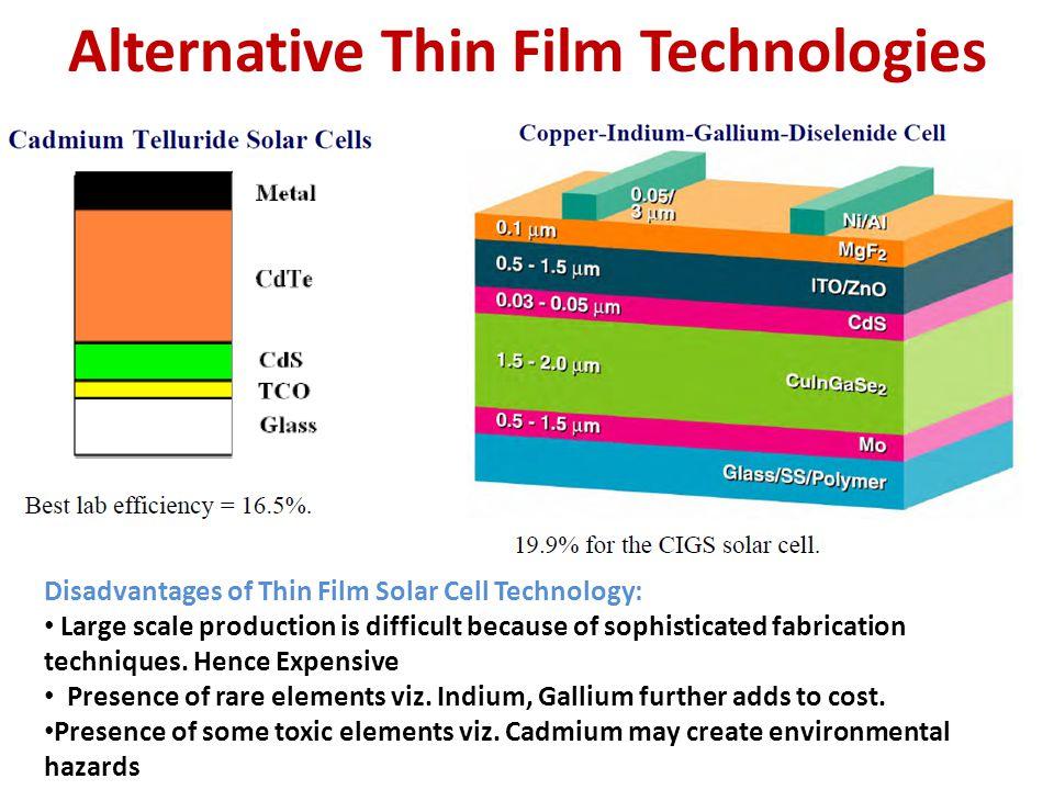 Alternative Thin Film Technologies