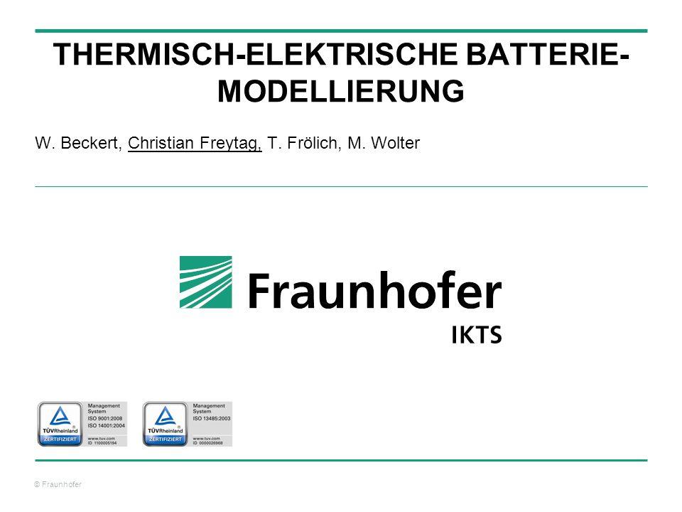 thermisch-elektrische Batterie-modellierung