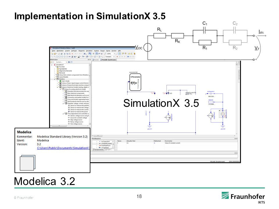 Implementation in SimulationX 3.5