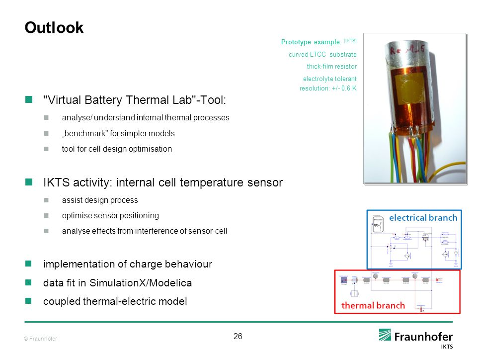 Outlook Virtual Battery Thermal Lab -Tool:
